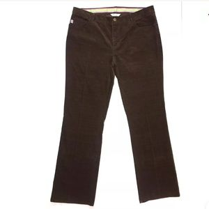 Lilly Pulitzer Brown STRETCH Corduroy Pants 14